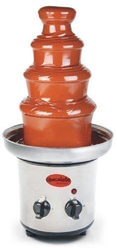 Schokoladenfontäne aus Edelstahl, elektrisch, für 900gr. Schokolade, Tisch-Schokobrunnen