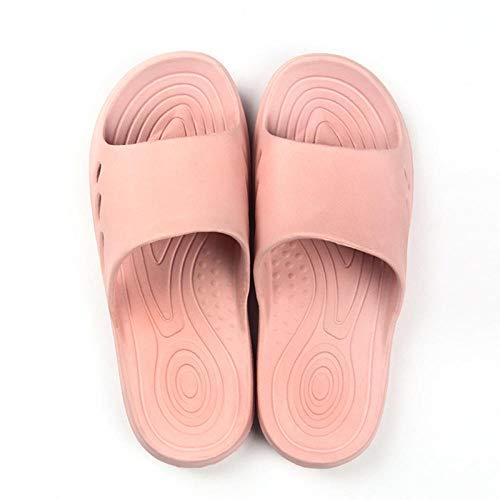 MQQM Chanclas Zapatos de Playa y Piscina,Zapatillas de baño Simples Antideslizantes, Sandalias Suaves de Interior-Pink_38-39,Mujeres Zapatos de Piscina Chanclas
