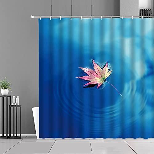 XCBN Kreative Wassertropfen Blase Duschvorhänge Regentropfen Orange Blau Grün Hintergr& Bad Dusche Vorhang Raum Dekor Wasserdichter Stoff Vorhang Haken A5 90x180cm