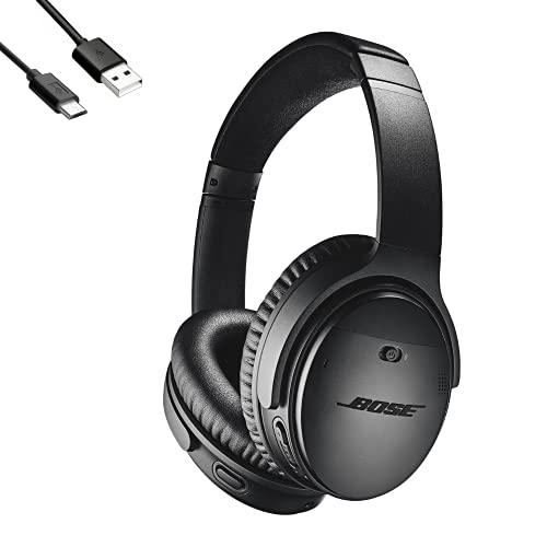 Bose QuietComfort 35 wireless headphones II ワイヤレスノイズキャンセリングヘッドホン Amazon Alexa搭載 + LafLife オリジナル 0.5m マイクロUSB 予備充電ケーブル セット (BLACK) [並行輸入品]