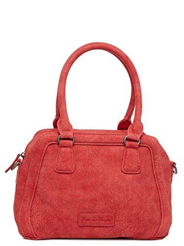 FRITZI AUS PREUSSEN, Damen Henkeltaschen, Handtaschen, Bowling-Bags, 38 x 21 x 17 cm (B x H x T), Farbe:Rot