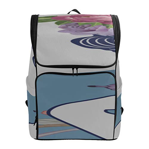 Blue And White Chinese Lady Casual Shoulder Bag For Men Hiker Backpack Teen School Bag Hiking Backpack Fits 15.6 Inch Laptop And Notebook Best Backpack Business Daypack