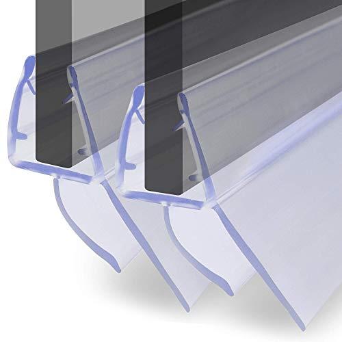 VILSTEIN Duschdichtung für Duschtüren 2x 100cm Länge, kürzbar, 6, 7, 8mm Glasstärke, Duschlippen und Wasserabweisprofil