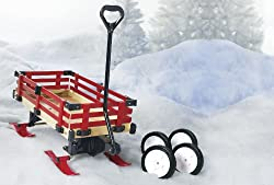 wagon on skis for winter for kids