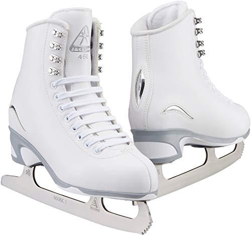 Jackson Ultima JS450 White Figure Ice Skates for Women/Adult 8