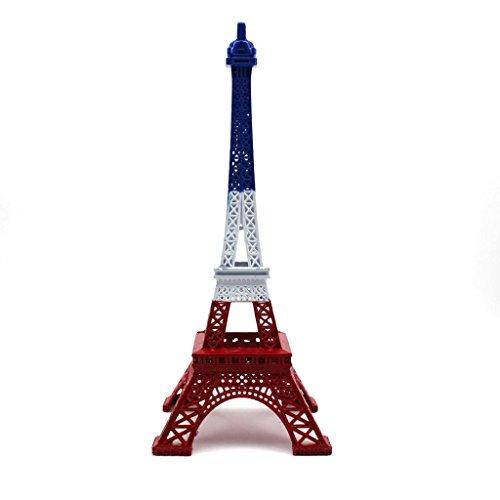 HuntGold 1 x Statue Figurine Paris Tour Eiffel Décorations de bureau à domicile Décoration de cadeau de Noël (13 cm)