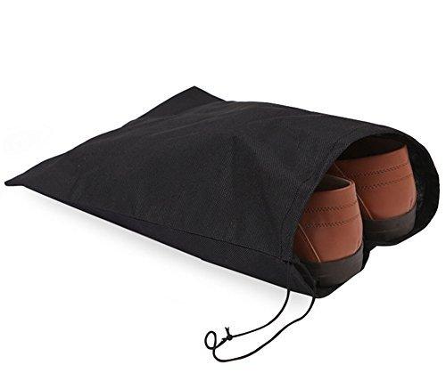 10X Milopon Schuhbeutel Reise-Schuh Taschen staubdichten Schuhtasche mit Kordelzug schwarz