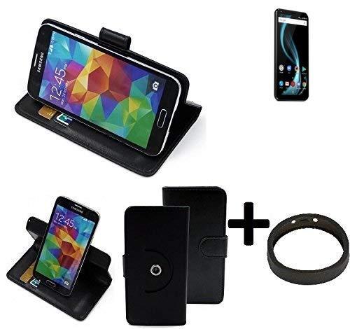 K-S-Trade® Case Schutz Hülle Für Allview X4 Soul Infinity Plus + Bumper Handyhülle Flipcase Smartphone Cover Handy Schutz Tasche Walletcase Schwarz (1x)