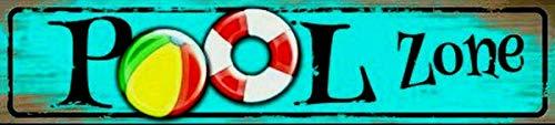 SIGNCHAT - Warnschilder für Pools in #45, Größe 4x16 INCHES