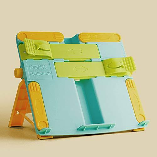 QINYUP Los niños Estantería Lectura Lectura Lectura del Estudiante Soporte de Escritorio Simple Rack Plegable Simple Libro de Escritorio con Libros,B