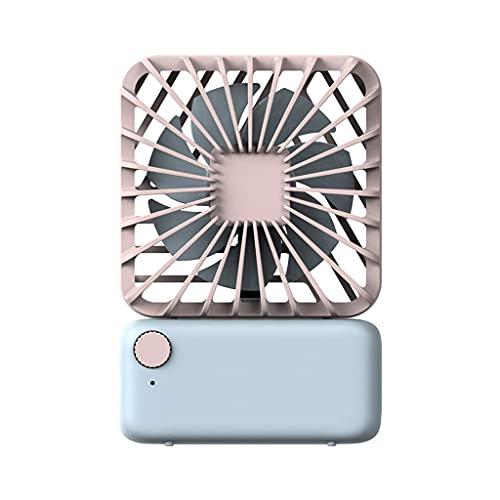QZH Silenciador de Ventilador pequeño Cuadrado, Ventilador de Escritorio portátil, Ventilador USB Personal, Ajuste de 3 Marchas (A)