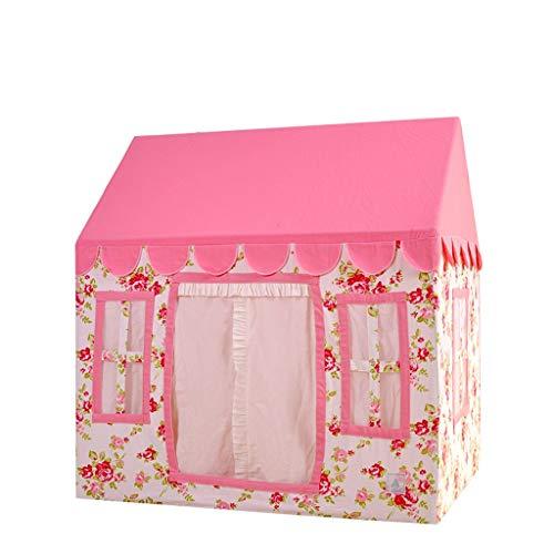 C-J-Xin Baby Big Tent Big Massivholzhaus Printed Tent Garten Breathable Game House Außen Rasen Fairy Haus Kinderspielplatz Zelt Kinderspielzeug Zelt (Size : 110 * 80 * 115CM)