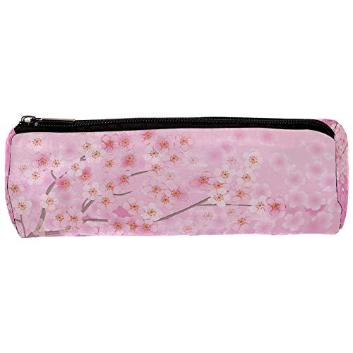 Sakura Florals - Estuche para lápices con cremallera, organizador de monedas, bolsa de papelería, maquillaje, bolsa de cosméticos, para mujeres, adolescentes, niñas, niños y niños