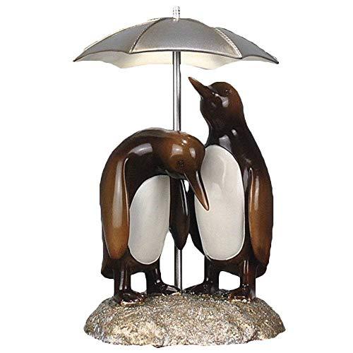 GRX-ART Statue/Skulptur,Pinguin Statue mit Regenschirm EIN Paar, Desktop Harz dekorative Figur, geeignet für Wohnzimmer, Schlafzimmer, Arbeitszimmer, Hochzeitsgeschenk