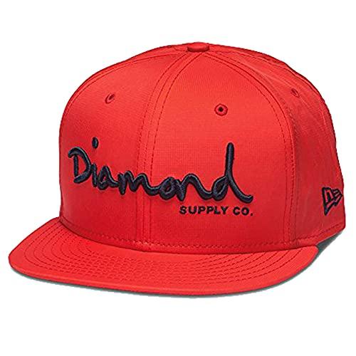Diamond Supply Co. Men's New Era OG Script Porto Fitted Hat Red 7 3/4