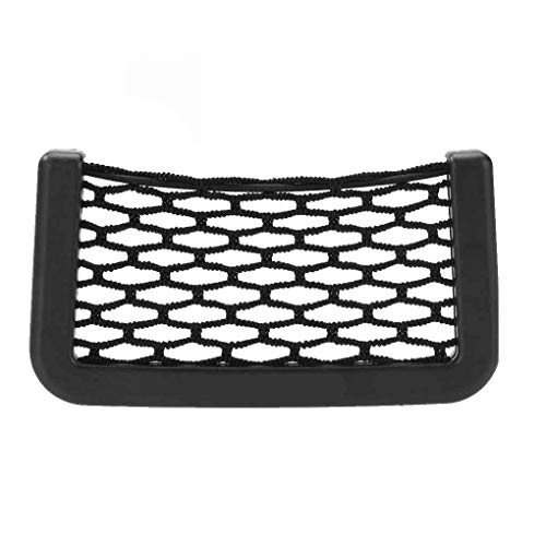 zhibeisai Universal Car Seat Side Back Storage Elastic Mesh Net Bag Phone Holder Pocket Organizer