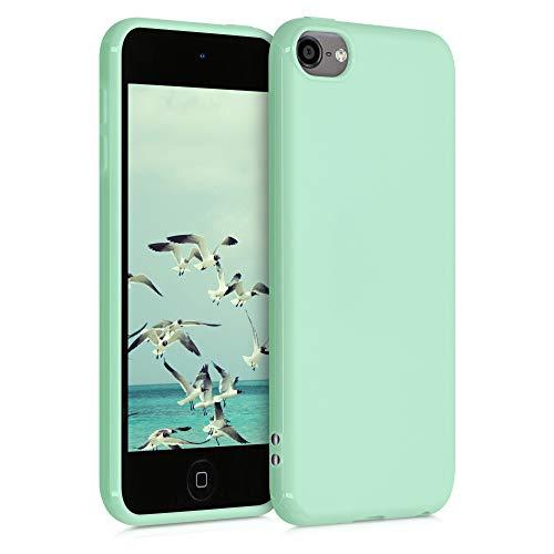 kwmobile Funda Compatible con Apple iPod Touch 6G / 7G (6a y 7a generación) - Carcasa Trasera Blanda - Case Posterior de TPU - Menta Mate