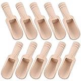 WXJ13 10 mini cucchiai di legno per cucchiaio di sale cucchiaino di legno cucchiaino di sa...