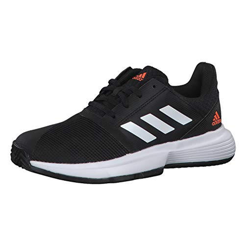 adidas Kinder Tennisschuhe CourtJam xJ core Black/FTWR White/hi-Res Coral 35 1/2