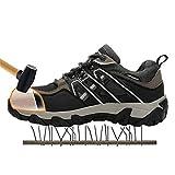 NKJGFV Hombres con Punta de Acero Zapatos de Seguridad Zapatos para Caminar Botas de Trabajo de construcción Green 43
