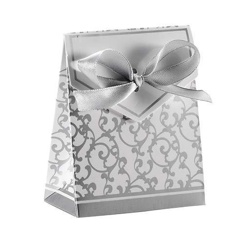 Sukisuki 50 stks Snoepjes Gouden Wijnstok Patroon Snoepdozen Bruiloft Feest Gift Candy Favour Boxen met Lint Ties Eén maat Kleur: wit