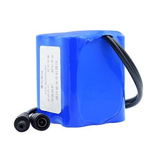 ndegdgswg 12 V 3000/6000/9000mAh Li-ion 18650 batería con conector XH 2.54 mm/DC 5.5 x 2.1 mm para aspiradora LED luz 9000mAh DC5.5 x 2.1 mm