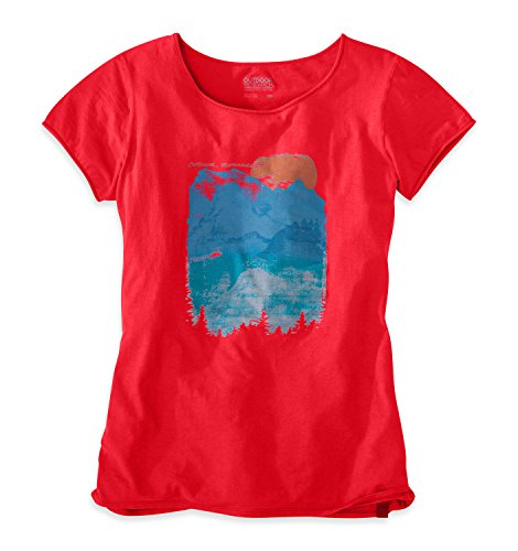 Outdoor Research T-Shirt Wind Song pour Femme, Motif Flamme, Taille S