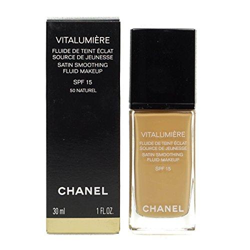 CHANEL Vitalumière base de maquillaje Botella Crema 30 ml - Base de maquillaje (Botella, Crema, Naturel, Piel seca, Piel normal, Satén, Mujeres)
