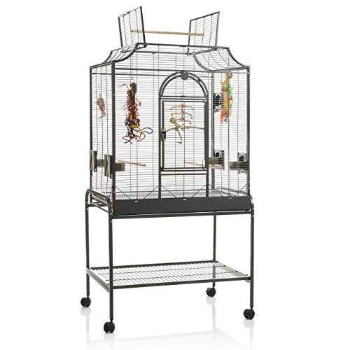 Montana Cages ® | Die Geschenk - Idee: Madeira II - in Antik für Sittiche, der ideale Vogelkäfig, Voliere, Sittichkäfig, Käfig