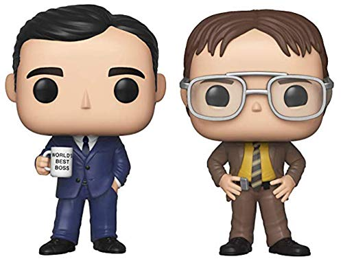 Funko Pop! TV: The Office - Michael Scott and Dwight Schrute - Set of 2 Figures in Bubble Pouch