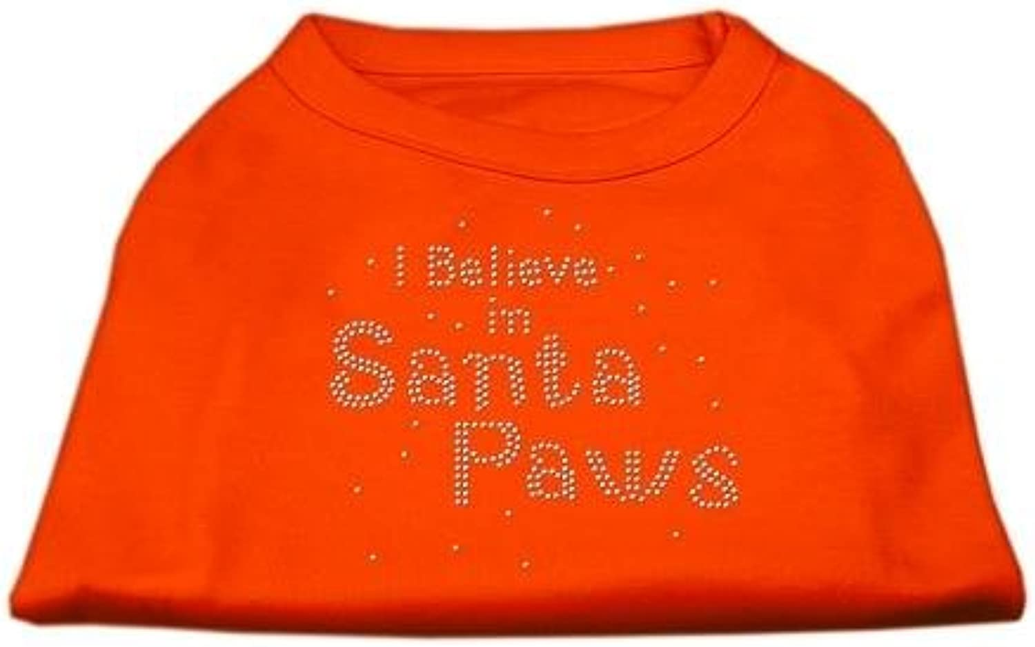 Mirage Pet Products 20Inch I Believe in Santa Paws Print Shirt for Pets, 3XLarge, orange
