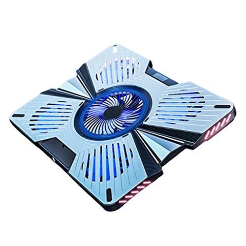 Laptop Cooling Pad, Enfriador portátil de 12'-17' portátiles con Ajustable Velocidad del Ventilador, 2 USB Aficionados Puerto 5 Silent Cooler Pad Enfriador de portátiles Enfriador de portátiless