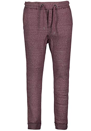Eight2Nine Herren Jogging-Hose mit Gummibund und Kordel red S
