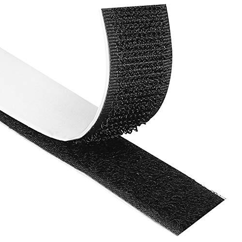 Blooven Klettband Selbstklebend 8M Extra Stark, Doppelseitig Klebende mit Klettverschluss 20mm Breit Selbstklebendes Klebepad Flauschband und Hakenband (Schwarz)