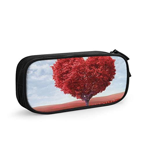 Photoshop Federmäppchen, Motiv: Baum, Herz, Gras, Romantik, Stifteetui, Schreibwaren, Organizer, Kosmetiktasche, Make-up-Tasche, hohe Kapazität, für Schule, Bürobedarf