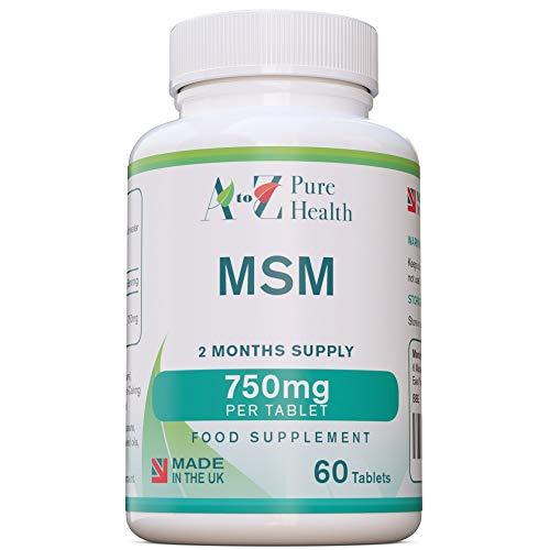 MUSCLE RECOVERY- MSM Capsules | Methylsulphonylmethane Supplement | 750Mg -...
