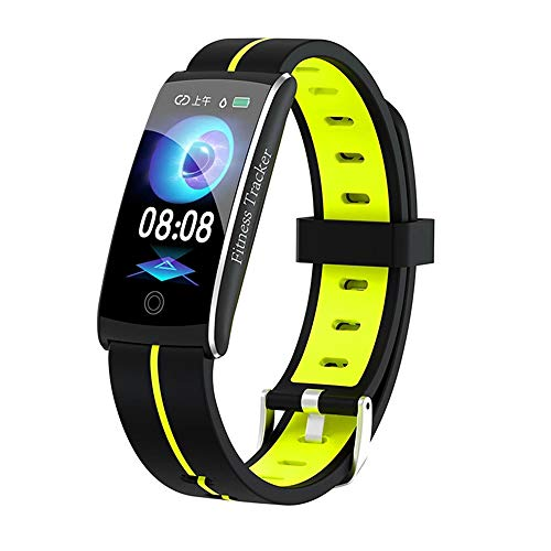 YAONING Fitnesstracker, slimme bluetooth-armband voor dames, hartslag- en bloeddruk, caloriebewaking, waterdichte sportstappenteller, IP68 C