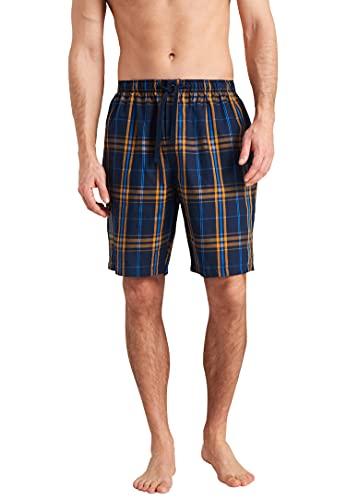 Schiesser Herren Bermuda Pyjamaunterteil, blaugemustert, 54