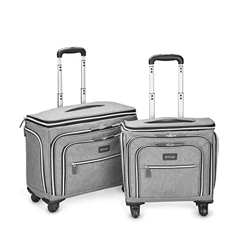 Biaggi Luggage Lift Off Expandable Under-Seater to Carry-on, Grey, One Size