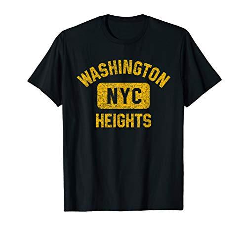 Washington Heights NYC Gym Style Distressed Amber Print T-Shirt