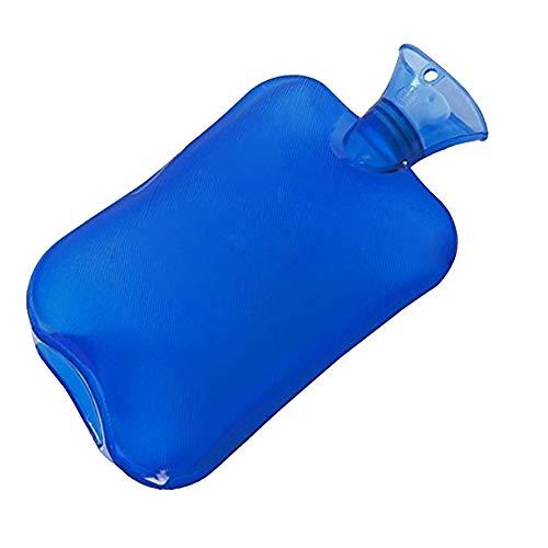 Hieefi Botella De Agua Caliente Bolsa Superior Clásico De Goma Frías Baño De Agua De Goma Grande Botella De Agua Caliente Azul 2l