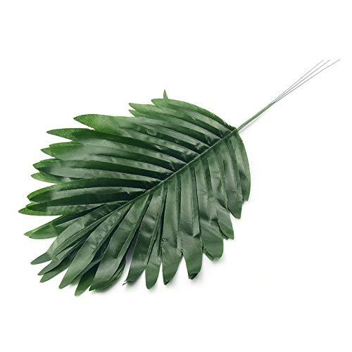 Bayue Monstera, 24 stuks kunstpalm, palm, groene bladeren, van kunststof, voor bruiloft, knutselen, decoratie, goedkope bloemen, plantenbladeren Groen