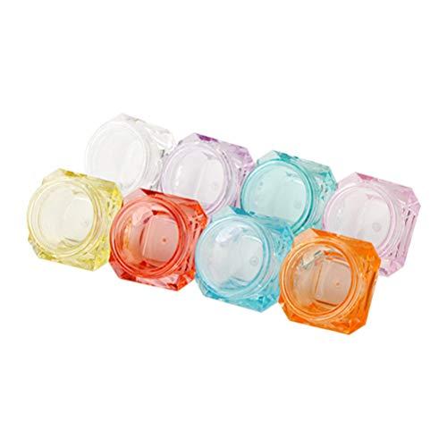 Lurrose 40pcs 5g mini bouteilles de voyage portable cosmétique vide pot pot pot pour la lotion de maquillage, crème, masque