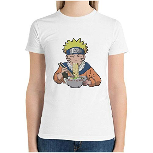 Ballbollbll Camiseta de manga corta de algodón de secado rápido para mujer Naruto Noodles Tops personalizados para entrenamiento y fitness Eurocode