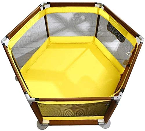Unknow Baby Playpen Safety Playground Kids Inner Play Barrier Toddler Creeper Safety Barrier Guard Fence Safety (Color: Yellow)