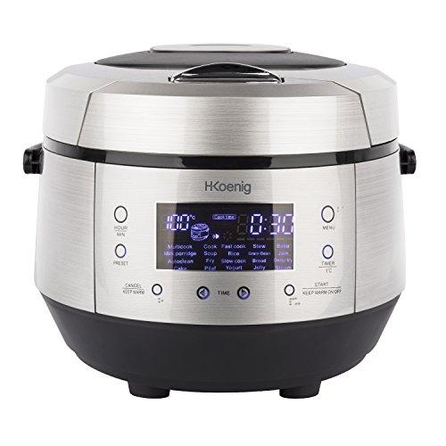 H.Koenig MLCOOK10 Robot de Cocina, 860 W, 5 litros, Plateado y Negro