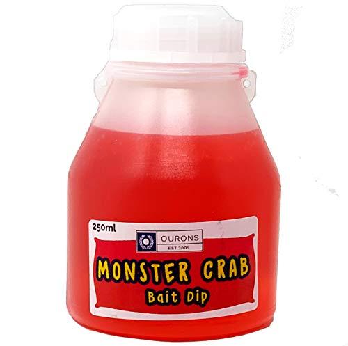 OURONS Monstercrab Bait Dip Glug - Pesca de la Carpa Cebo líquido 250ml
