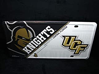 Yilooom NCAA University of Central Florida Knights Metal Car License Plate UCF Knights Auto Car Novelty Accessories License Plate Art