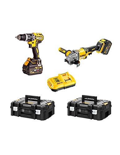 """DEWALT Kit FVK256T2-QW FLEXVOLT 54V/18V (DCD796 + DCG414 + 2 baterías 54V/18V Li-Ion 6,0 Ah + DCB118 + 2 x TSTAK II)""""Brushless"""""""