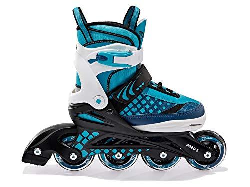 Crivit Kinder Inliner Inlineskates Softboot Skates verstellbar Inliner Rollschuhe Gr. (29-33) Türkis